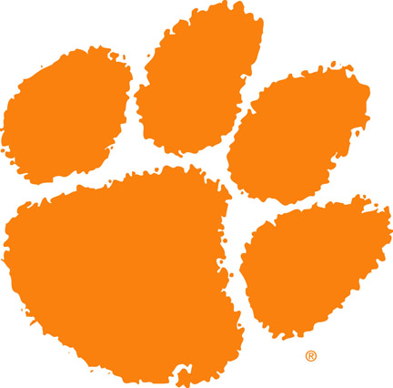 Clemson Tigers Paw logo College