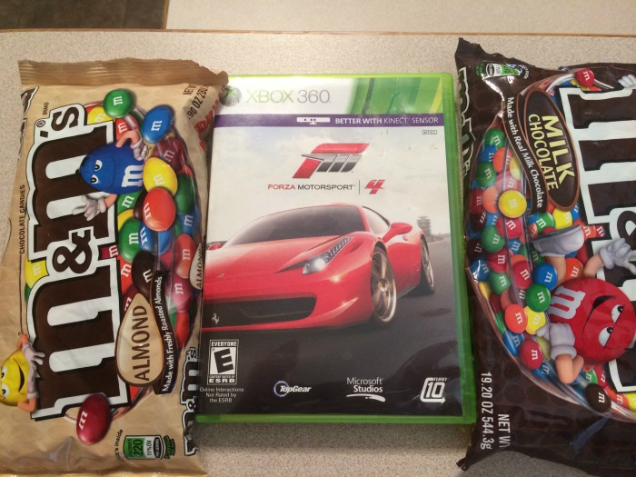 Forza 4 and M&Ms(Plain & Almond) #shop