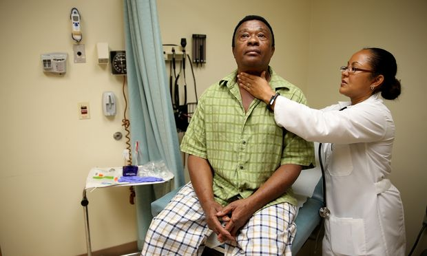 Black Man Getting Check Up