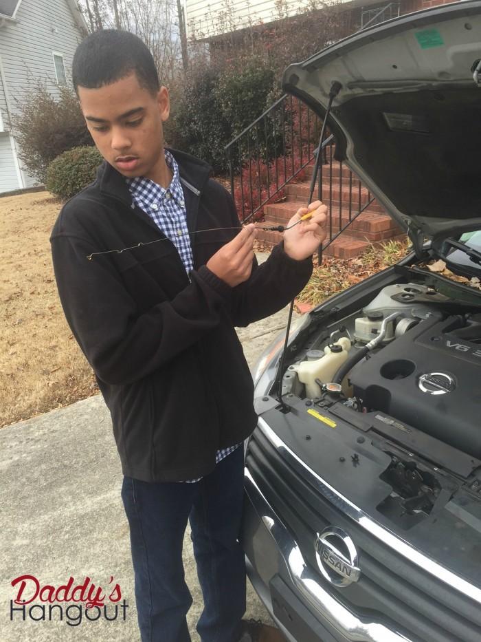 Son Checking Oil Level #WalmartAuto
