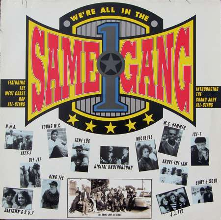 West Coast Rap All-Stars We're All in the Same Gang cover art