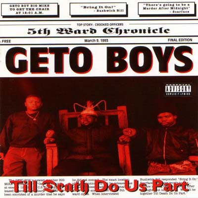Geto Boys Til Death Do Us Apart album cover