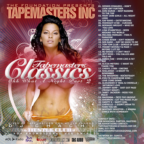 Tapemasters Inc Classics Pt. 2 mixtape cover