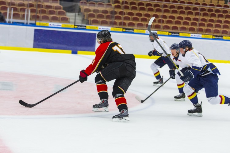 Guys Playing Hockey