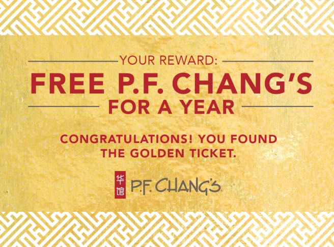 P.F. Chang's Golden Ticket