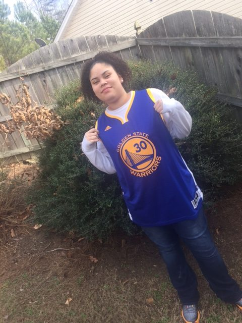 My Daughter With Stephen Curry Jersey