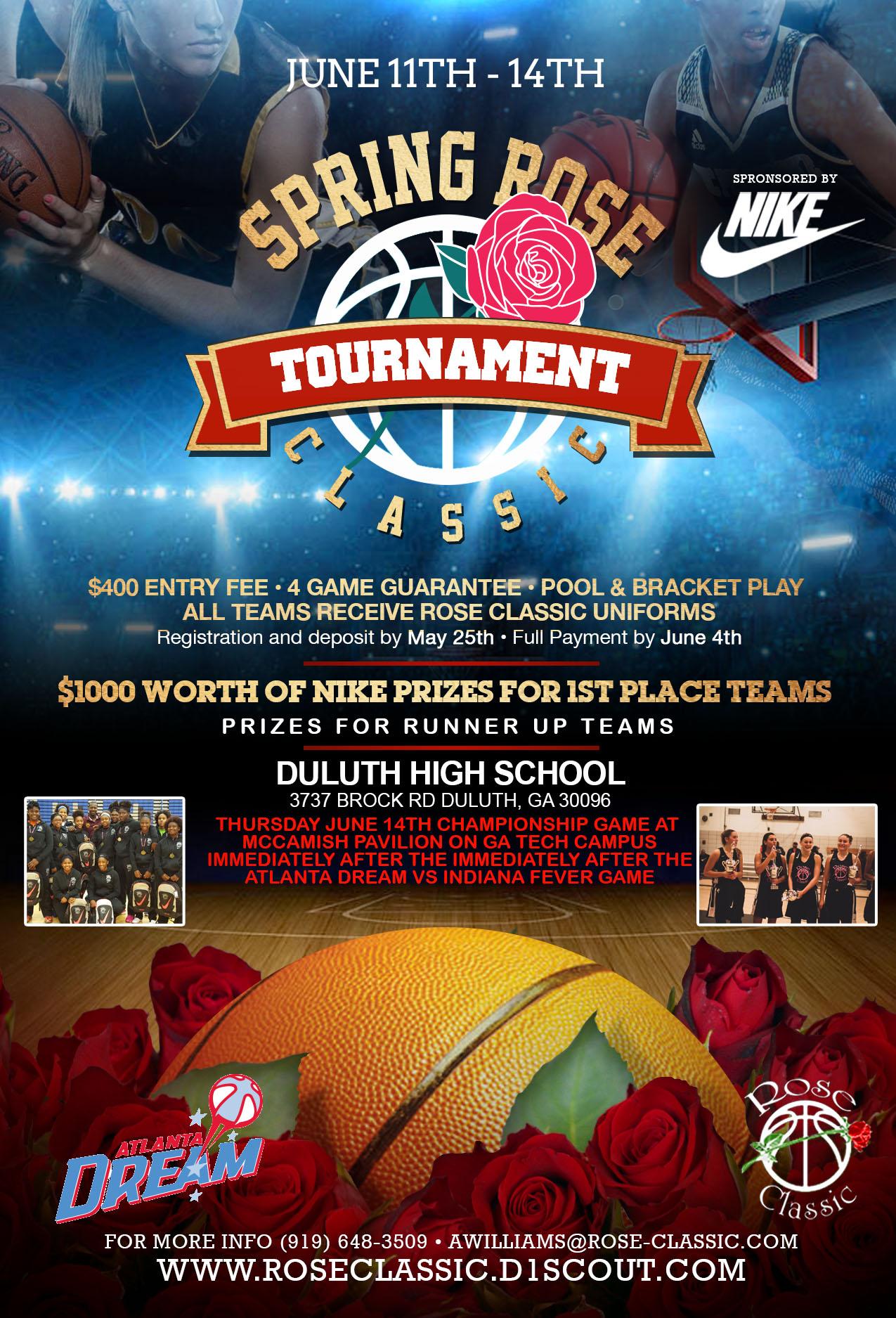 Rose Classic Basketball Tournament Starting June 11th in Atlanta