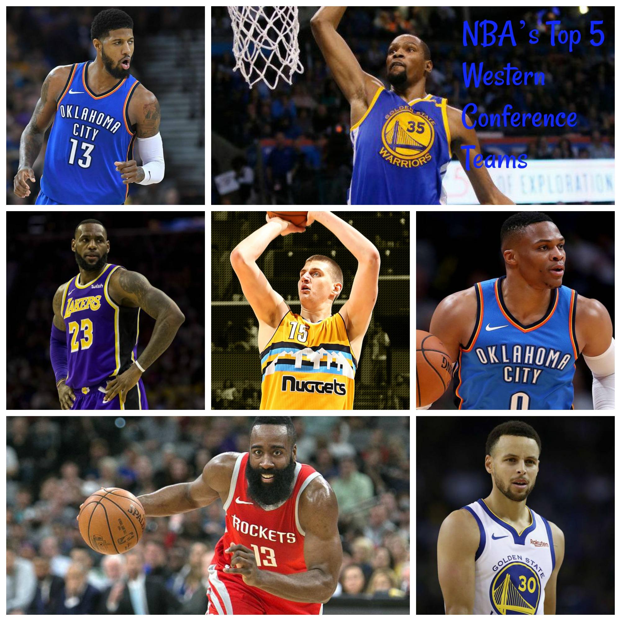 NBA's Top 5 Western Conference Teams