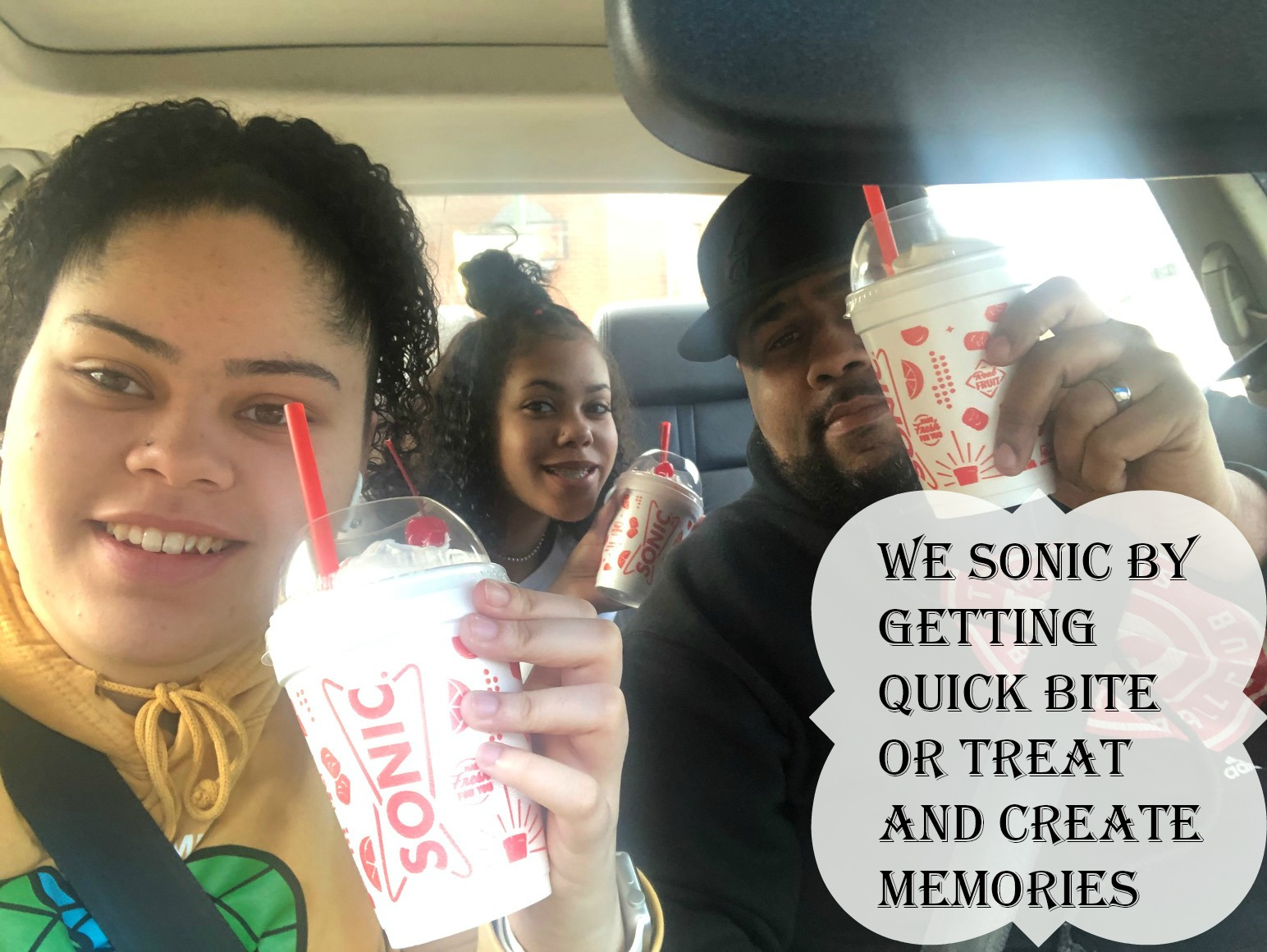 We SONIC by Getting Quick Bite, Food and Create Memories