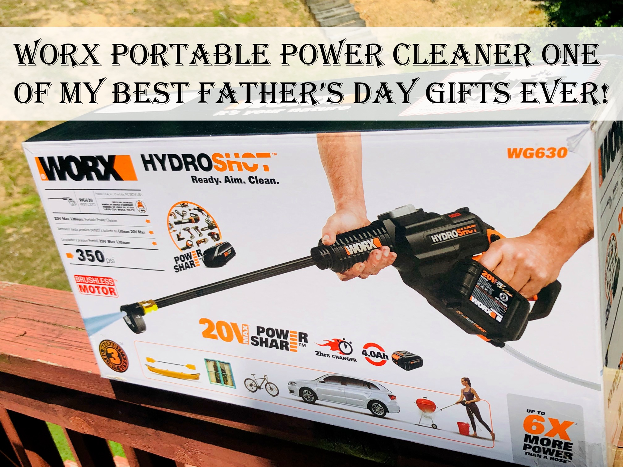 Worx Portable Power Cleaner One of My Best Father's Day Gifts Ever!