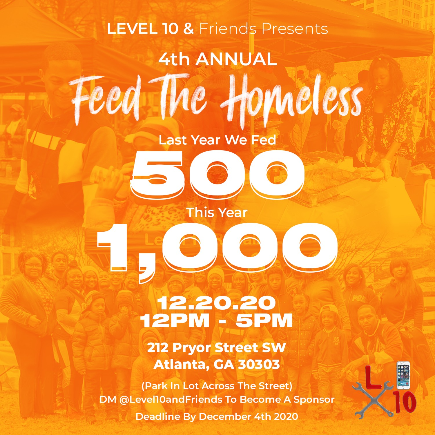 AJ Dewberry Hosts 4th Annual Feed the Homeless Event in Atlanta